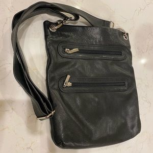 Margot black leather purse